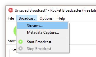 Broadcast - Streams